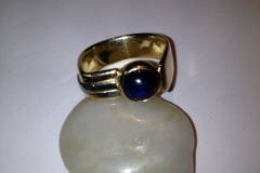 Blue Sapphire Cabochon Ring - $790