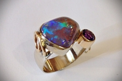 Australian Opal and Amethyst Ladies Ring - $1,250