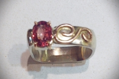 Pink Sapphire (Heat Treated) Ladies Ring - $1,140