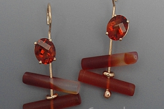 Citrine-Carnelian-Earrings