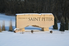 st. peter stone sign